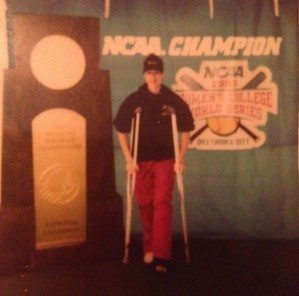 Broken Leg - attending WCWS in Oklahoma City