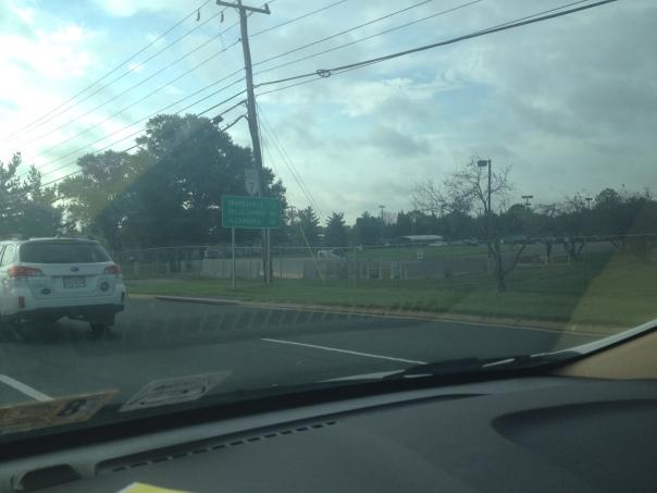 Washington Center, Leesburg, VA still blocked off from Rt. 7