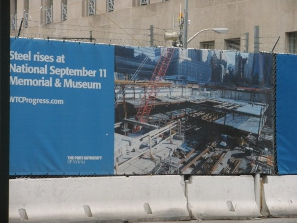 Construction of WTC Memorial